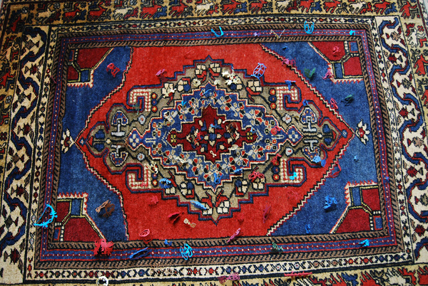 on a Persian rug